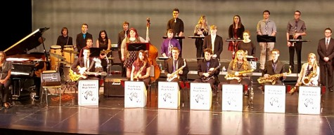 Jazz band performs for Scott Gwinnell Band