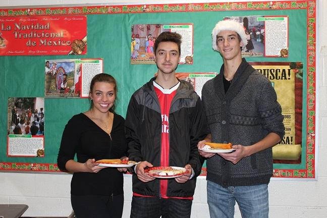 Spanish students have a fiesta
