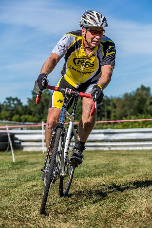 """Mathematics teacher Mark Olin begins the Iceman at Kalkaska in 2011, the 30 mile cross country mountain bike race. """"Part of the fun is not knowing what the conditions will be like."""" He successfully completed this race as he has annually for six years."""