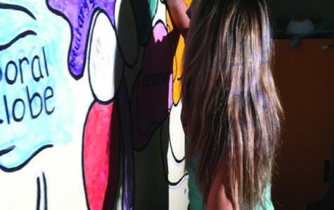 Maiorano paints mural