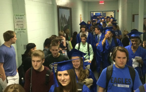 Cap and gown parade