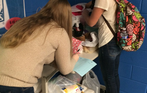 NHS giving tree and adopt-a-family donations