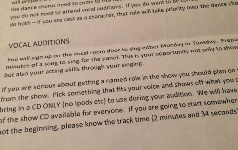"""""""Into the Woods"""" auditions"""