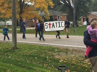 The Student's Taking Action In Christ (STATIC) club showed their support towards the school.