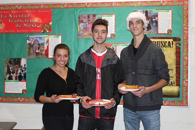 Casey+Novak%2C+Zach+Pickell%2C+and+Zachary+Matovski+enjoying+some+Spanish+food.