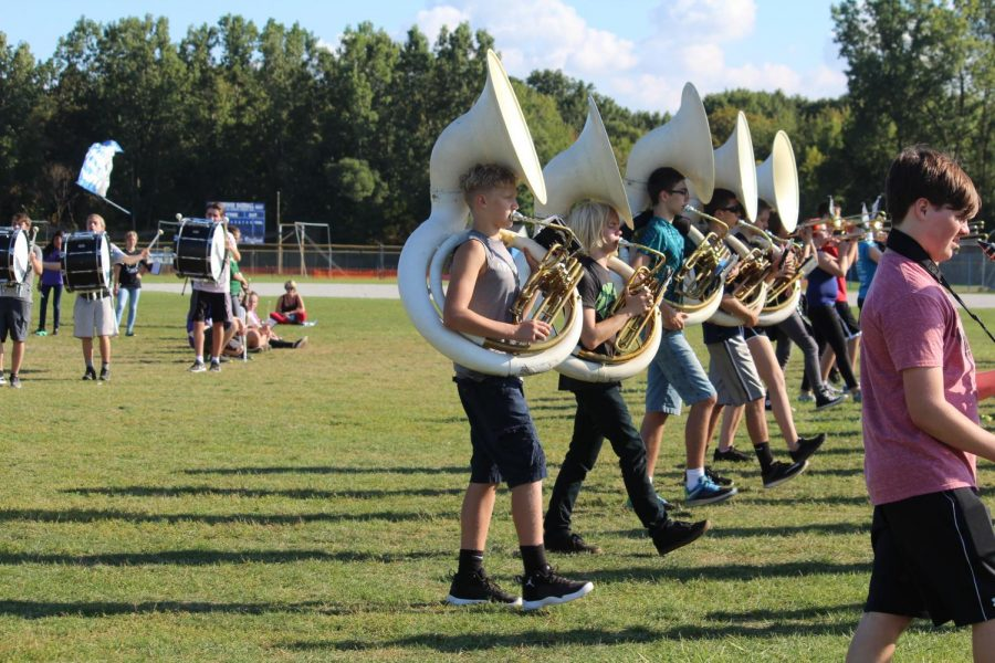 Gallery: pictures from marching band practice