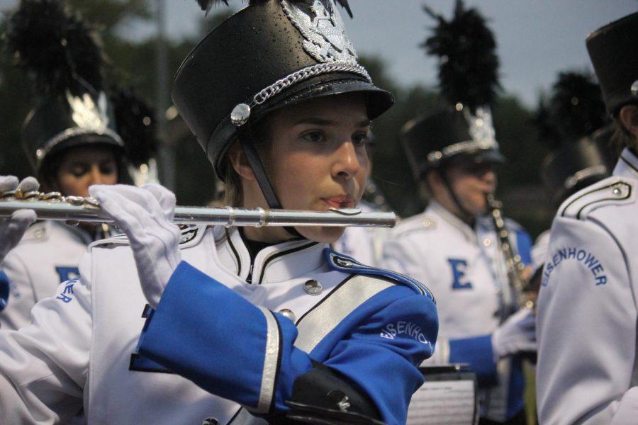 Junior+Marissa+Brusca+plays+her+flute+during+pregame.