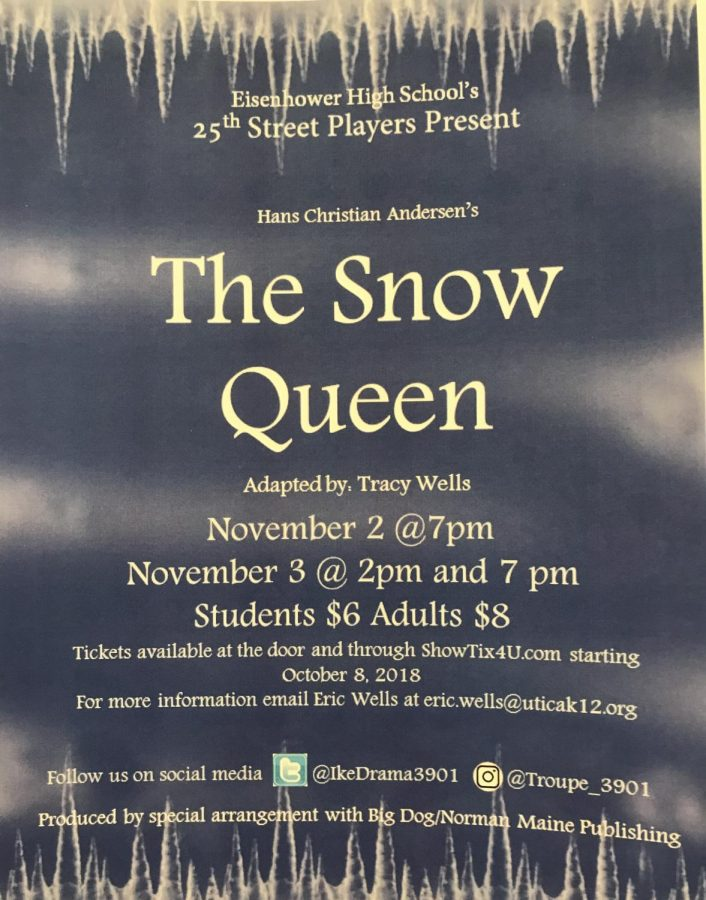 The+annual+fall+play+this+year+will+be+The+Snow+Queen.+%E2%80%9CI%E2%80%99m+really+excited+to+see+the+audience+reaction%2C%E2%80%9D+senior+lead+actress+Sarah+Agrusa+said.%0D%0A