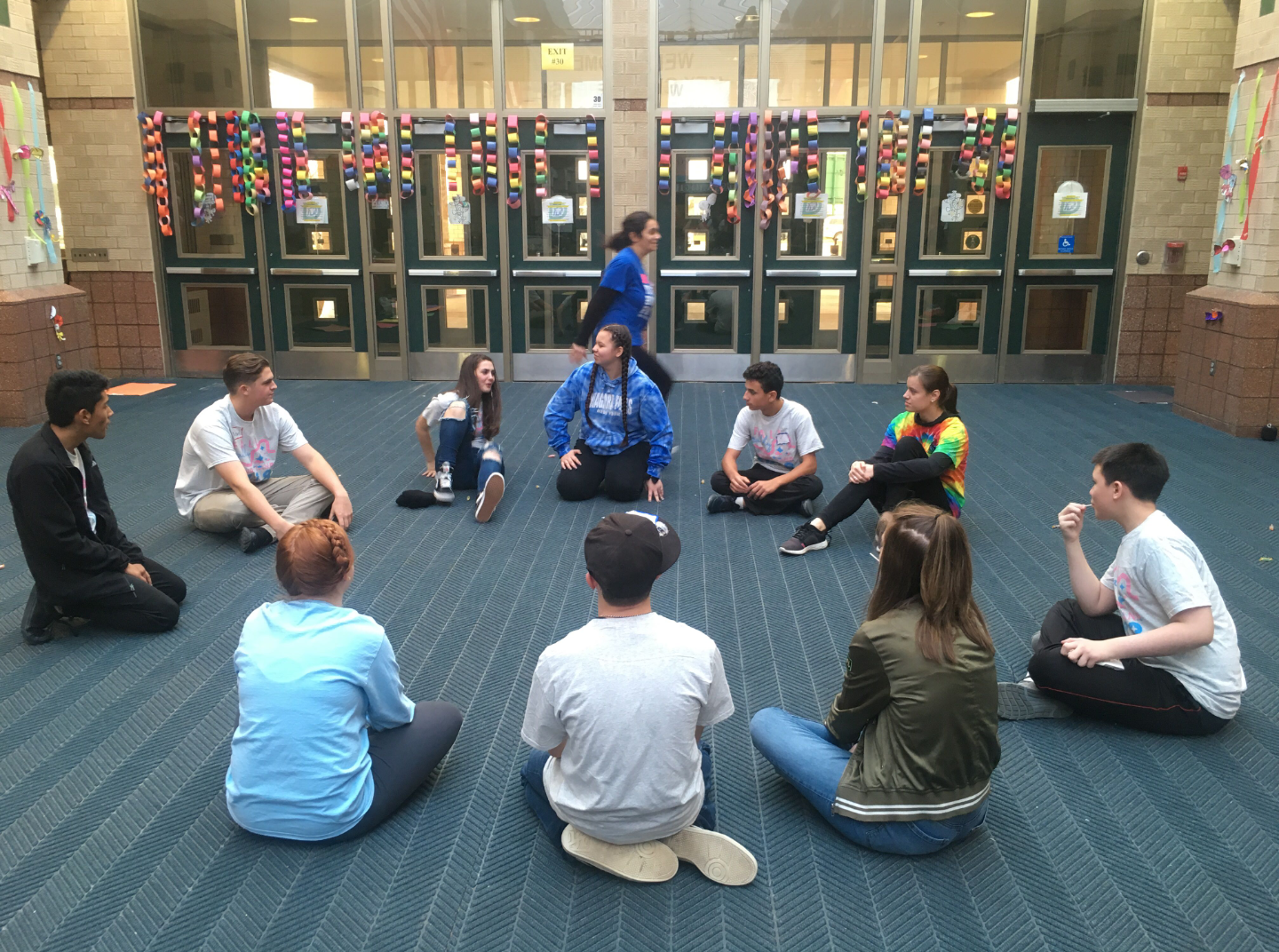 Key Clubbers at the Fall Rally playing games and building relationships with people around the state.