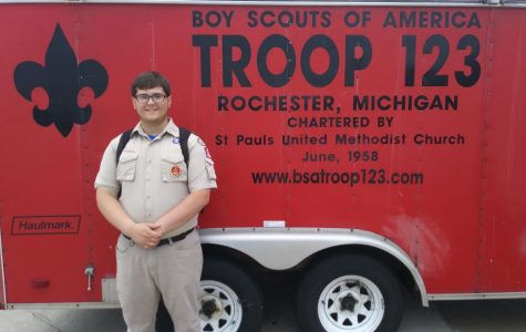 Boy Scout upgrades to Eagle Scout