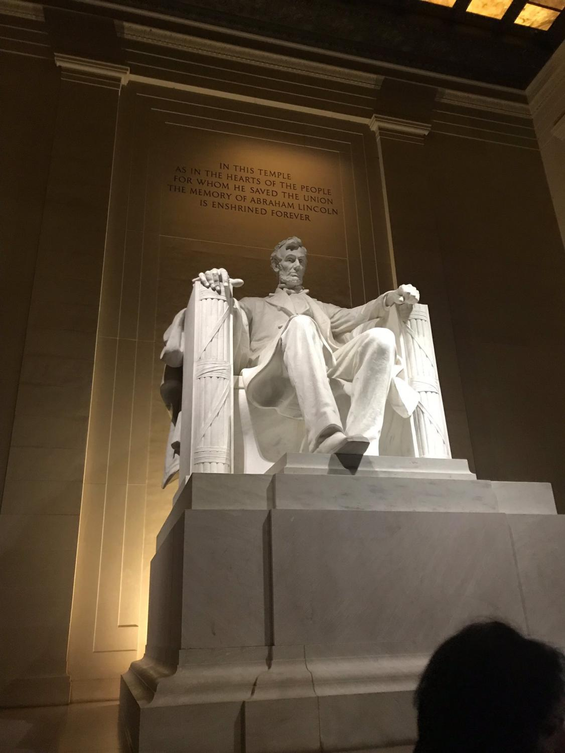 The Lincoln Memorial located in Washington D.C.