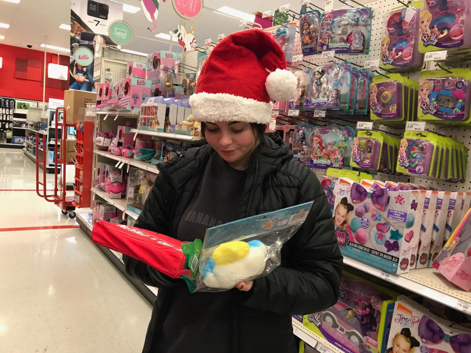 "The holidays are a stressful time of year with gift  giving. ""I love the holidays, but sometimes it's just stressful having to buy and give gifts,"" senior Sophia  Asta  said."