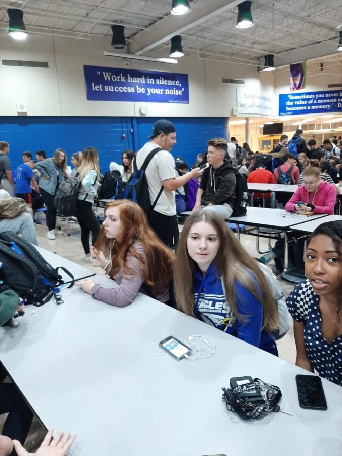 """Senior Shaniya Coffee is shocked by the news she just received from their fellow classmate Elece Vandergeld. """" We were laughing and talking and Elece said that she once fell asleep in a tree and sis we was shook.""""  After she went to her first hour class feeling ready to start the day."""