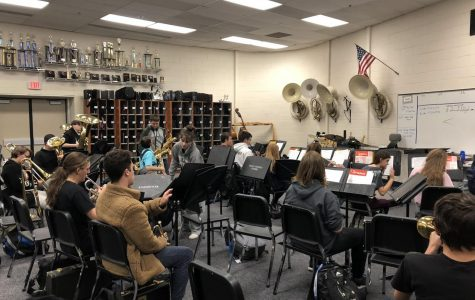 Band warms up for winter concert