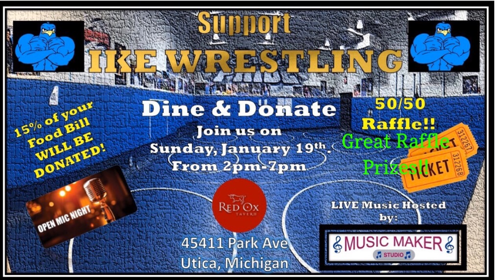 """A fundraiser for the wrestling team happens on Jan. 19. """"Anybody can show up. They are going to have music, open mic. We also have a bunch of raffles, probably two or three 50-50 ones,"""" head coach David Drath said.  The funds received during this event plan to be used for wrestling equipment and supplies."""