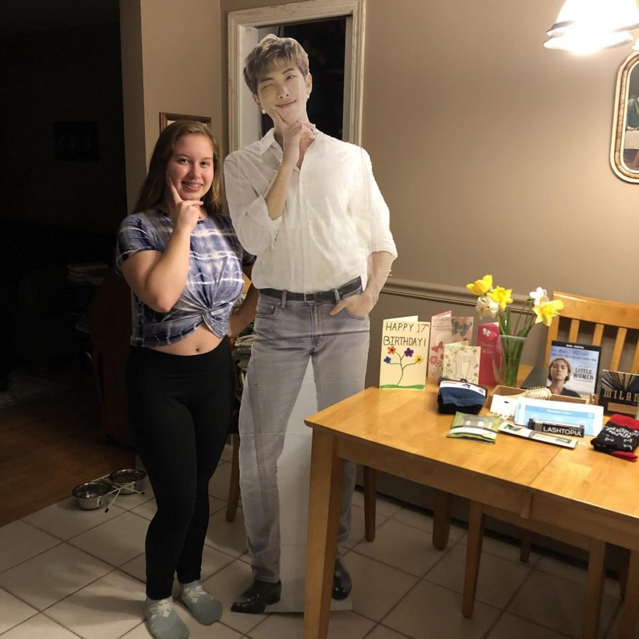 I enjoy my 17th birthday with my array of gifts and spending quality time with my parents. I received tickets to a Monsta X concert from my parents and I screamed my parents' ears off when I opened that gift. My best friend Aleya came over to my house to deliver the life-size RM (from BTS) that she made me— we stayed six feet apart, of course. I had the once in a lifetime opportunity of forcing my parents to watch a korean drama, Melting Me Softly, with me, which they actually liked! I had a great 17th birthday, even though we are in quarantine.