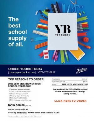"Principal Jared McEvoy sent posters promoting the yearbook via email to parents. ""We offer the best price the earlier in the year that you buy,"" publications adviser Erica Kincannon said. Buying a yearbook earlier guarantees students receive one and allows staff to plan out pages."