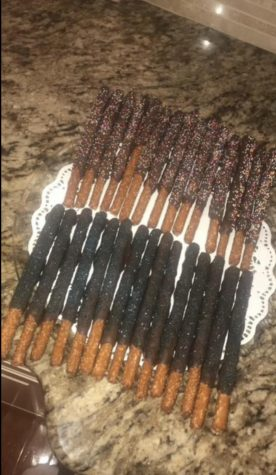 "The pretzels finish their hardening after being drizzled with liquid chocolate. ""The salt with the chocolate is my new favorite combination,"" Sister Samantha Nowak said. The newly found recipe is being added to the family cookbook."