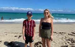 "While in Miami, sophomore Allison Vohs and brother Anthony Vohs enjoy the beautiful beaches. ""It is really nice to finally be able to go on trips again, I enjoyed my time here a lot,"" Anthony Vohs said. The two plan to take more family vacations in the future."